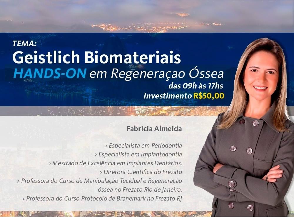 Geistlich Biomateriais HANDS-ON em Regeneração Óssea